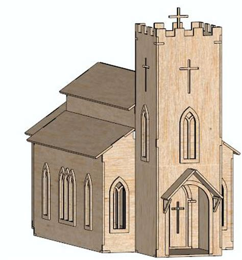 Free House Plans And Designs by The Simple Medieval Church Religious Makecnc Com