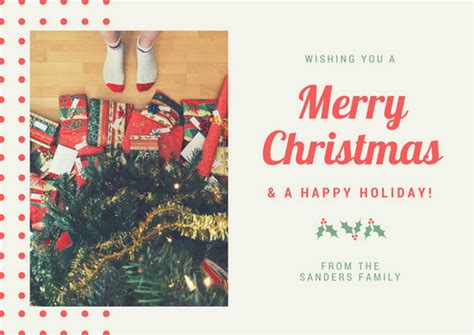 canva happy holidays christmas card templates canva