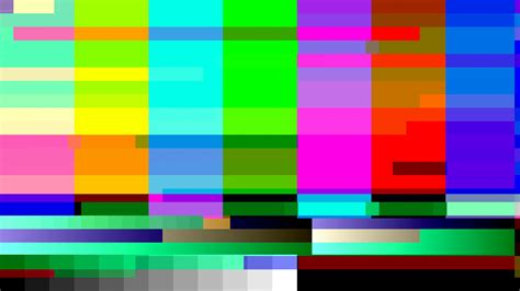 tv colors glitch 1002 tv color bars with a digital malfunction