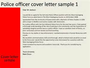 Police Officer Resume Cover Letter police officer cover letter