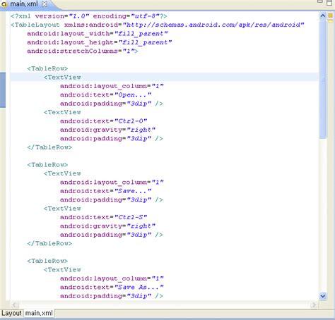 table layout layout gravity 개발마당 gt 강좌 학습 gt 안드로이드 개발 2 0 tablelayout 출력하기