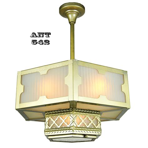 arts and crafts style chandeliers arts and crafts style hexagonal ceiling panel light