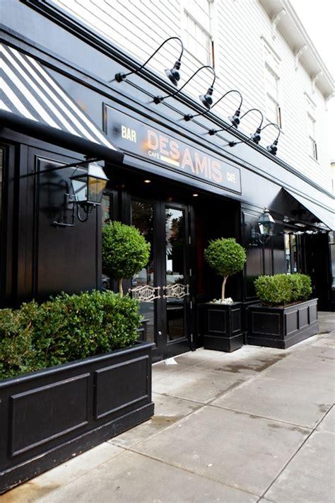 cafe design exterior french cafe facade with black colored panels founterior