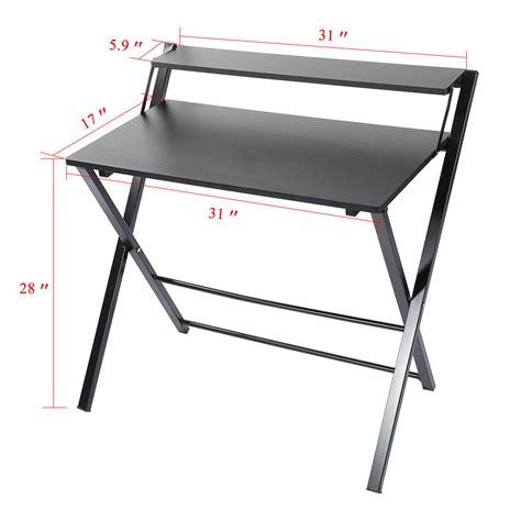 Foldable Laptop Desk Foldable Wood Black Computer Desk Pc Laptop Table Study Home Office Furniture Ebay