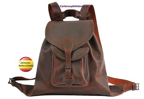 mochilas de cuero mochila de cuero hecha a mano grande