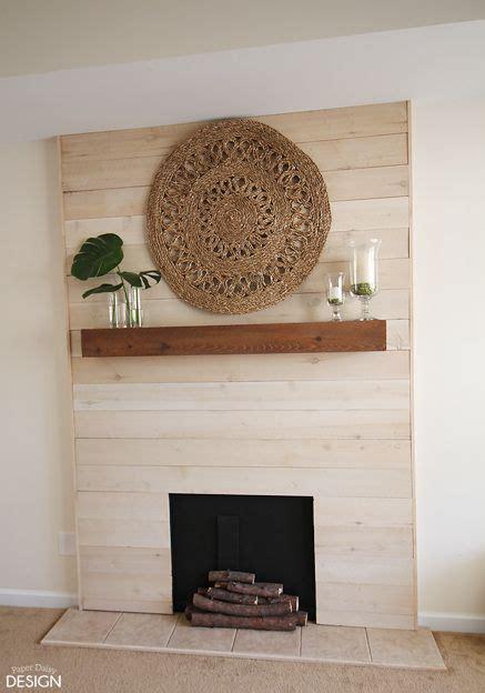 cornisas de madera para chimeneas faux shiplap fireplace with real heart madera bricolaje