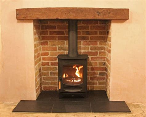 Brick Fireplace With Stove by The 25 Best Slate Fireplace Ideas On