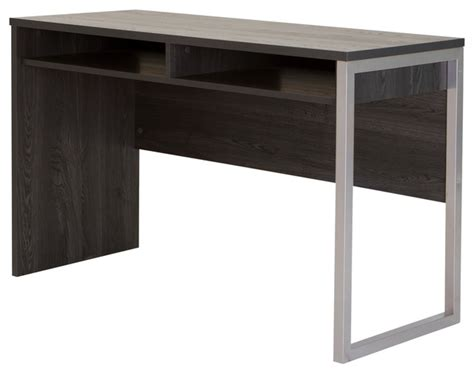 south shore academic desk south shore interface desk with storage gray oak modern