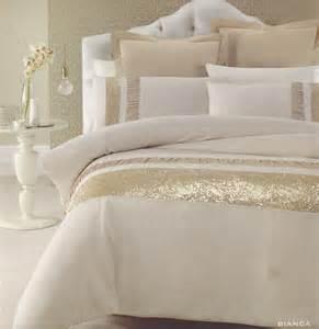 Gold Duvet Cover King Bianca Gold Beige Golden Sequins Queen King Quilt Doona