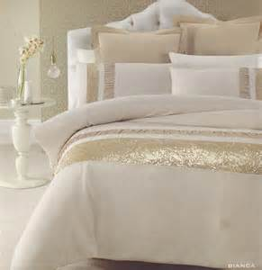 Details about bianca gold beige golden sequins queen king quilt doona