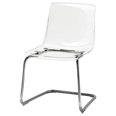 Ikea Clear Chairs by Tobias Chair Transparent Chrome Plated Ikea