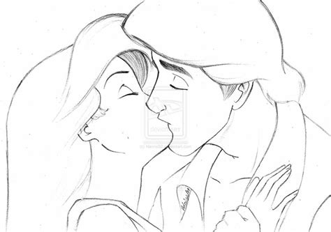Ariel And Eric By Hannas2 On Deviantart Ariel And Eric Coloring Pages
