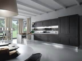 contemporary kitchens grey white an black decosee