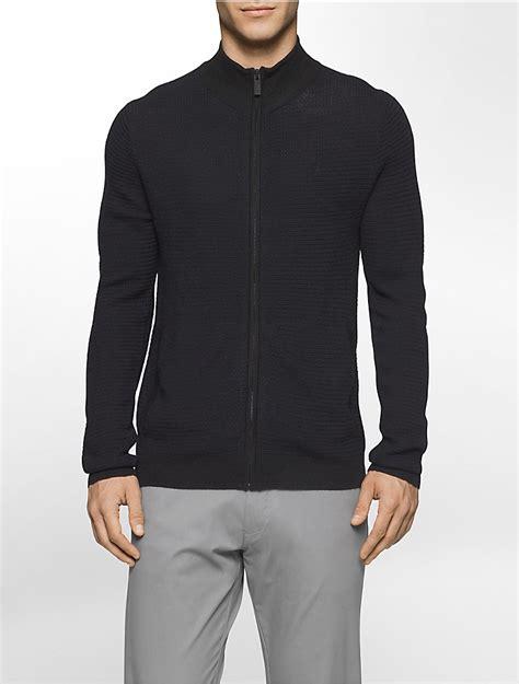 Sweater Rajut Collar mens zip merino wool sweater sweater vest