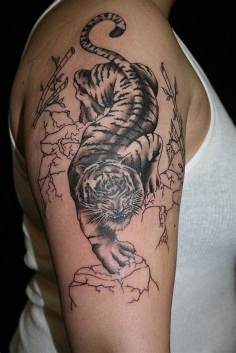 quarter sleeve tiger tattoo beautiful tiger tattoo ideas best tattoo 2015 designs