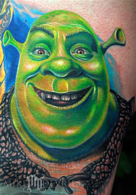 shrek tattoo mike devries tattoos shrek