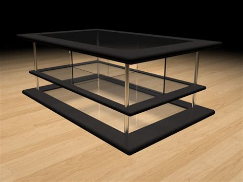 modern design coffee table 3ds 3d studio max software