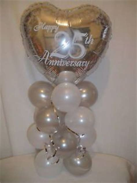 25th wedding anniversary decoration ideas 32 best images about anniversary balloon decor on 25th anniversary gold balloons