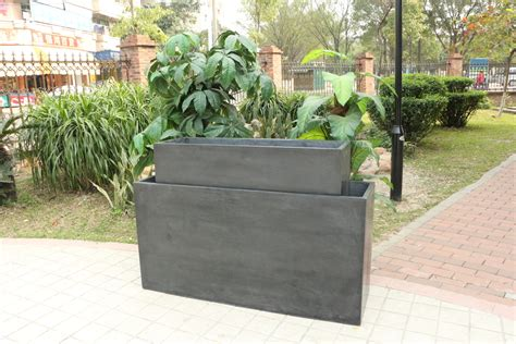 Large Outside Planters by And Large Tectangular And Trough Outdoor Planter Pot