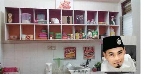 Rak Dapur Murah diy kabinet dapur sendiri lelaki ini guna kos hanya rm94 sahaja lengkapkan dapur miliknya