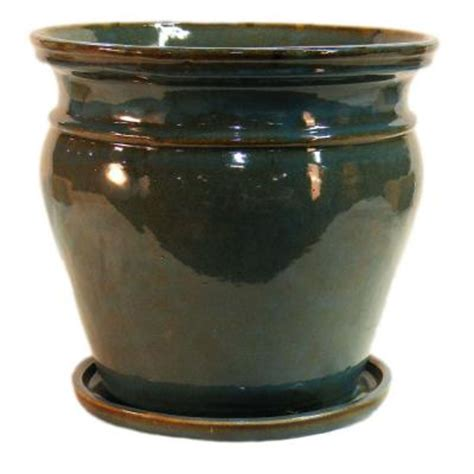 Ceramic Urn Planter by 15 In Ceramic Urn Shaped Planter Db15 00 The Home Depot