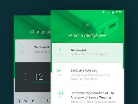 app design kickstarter 20 awesome material design concepts