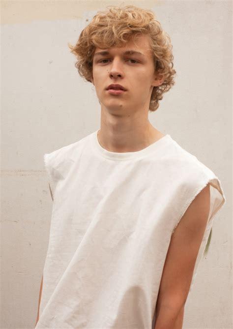 male models curly blond hair max barczak image 3782435 by taraa on favim com