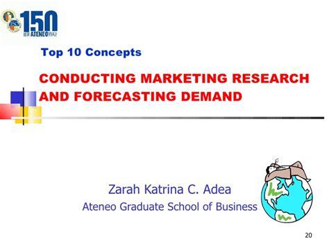 Ateneo Graduate School Mba by V47 Ch4 Market Research Demand Zarah Adea