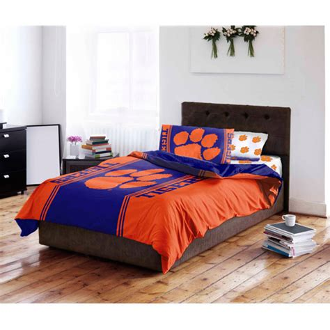 clemson bedding ncaa clemson university bedding set walmart com