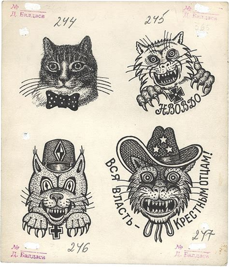 cat tattoo russian prison russian mafia tattoos the name s ponyboy