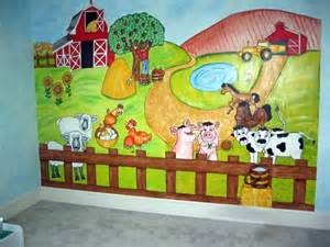 Farm Wall Murals all kids murals father and son mural