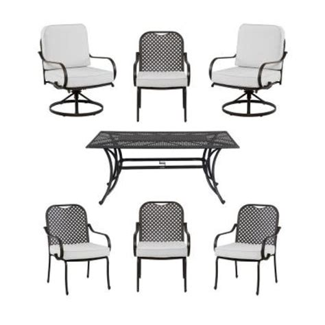 hton bay fall river 7 patio dining set with bare