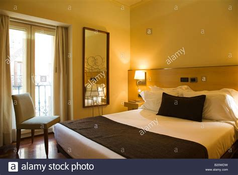 Mirrored Queen Bed Spain Madrid Queen Size Bed In Hotel Room Mirror And