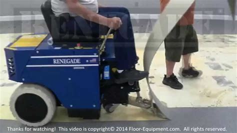 Carpet Removal by a Renegade® Floor Removal Machine   YouTube