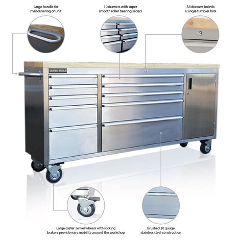 stainless steel tool cabinet stainless steel tool box chest with cupboard us pro