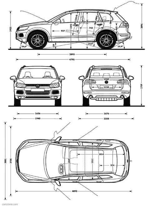 volkswagen touareg restylage 2014 fiche technique dimensions