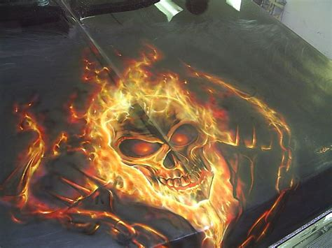 spray paint ghost rider toys rods custom cars
