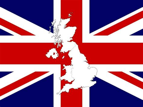 United Kingdom Outline Flag by Flags Of Uk Map
