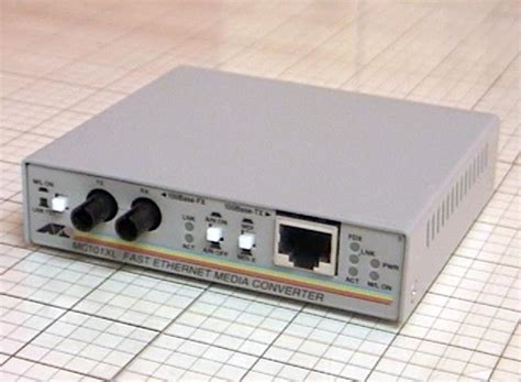 fast ethernet media converter used mc101xl fast ethernet media converter 24 98