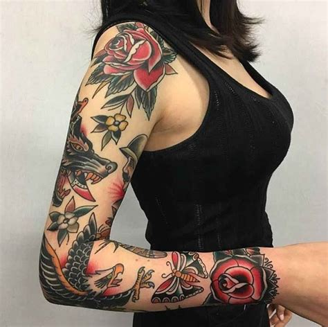 american traditional sleeve tattoo best 25 traditional sleeves ideas on
