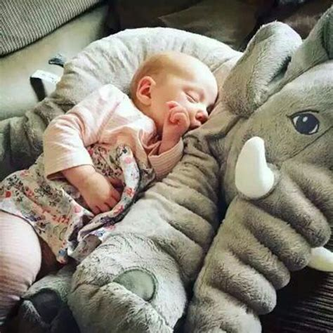 pillow for baby to sleep in bed gray elephant baby linens soft sleep pillow car seat