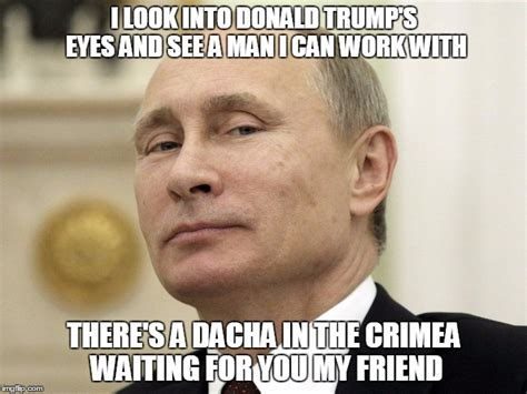 White Russian Meme - expert on russia says putin has something on trump and