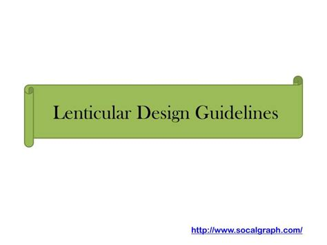 powerpoint design guidelines ppt lenticular design guidelines powerpoint presentation