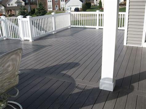 gray deck  pinterest decks vinyl railing  deck