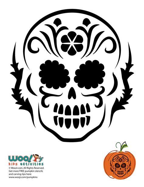 dia de los muertos skull pumpkin carving woo jr kids