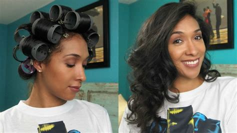 what are the best rollers for blackhair curly to straight hair roller set youtube