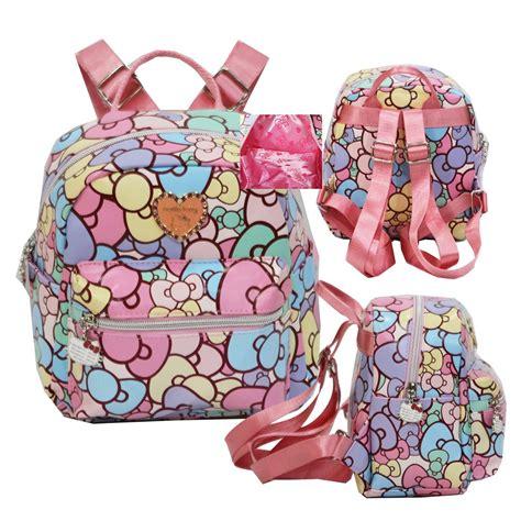 Tas Ransel Ukuran Mini tas ransel anak tas fashion anak motif hello
