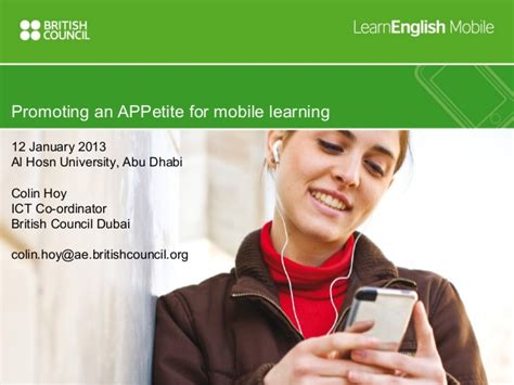 edmodo british council promoting an appetite for mobile learning colin hoy