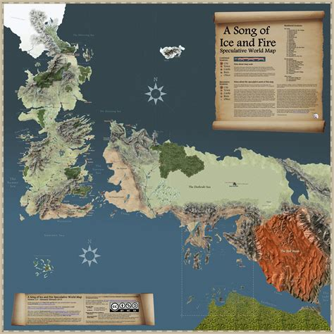 song  ice  fire speculative world map