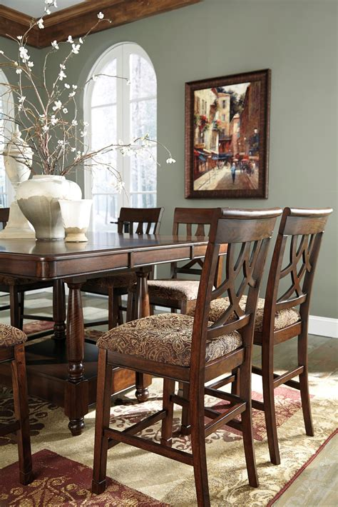 extendable dining room sets leahlyn extendable counter dining room set from
